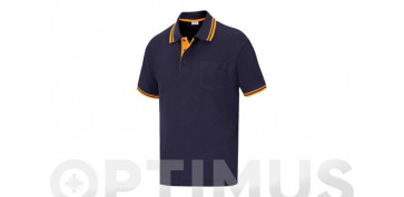 POLO PIQUE M/CORTA ELITE STRETCH AZUL TXXL