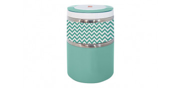 TERMO SOLIDOS LUNCHBOX DOBLE 0,9 L VERDE INOX