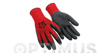 Guantes - GUANTE LATEX + POLIESTER T-9