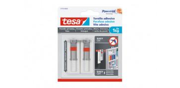 Topes y perchas adhesivas - TORNILLO ADHESIVO SMS AJUSTABLE REMOVIBLE PARED PI 2,0 KG BLISTER 2 TORNILLOS 6 TIRAS