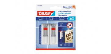 Topes y perchas adhesivas - TORNILLO ADHESIVO SMS AJUSTABLE REMOVIBLE AZULEJOS 3,0 KG BLISTER 2 TORNILLOS 3 TIRAS