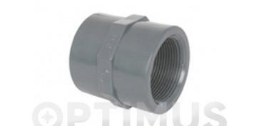 MANGUITO HEMBRA ROSCA-HEMBRA PVC PRESION 63 X 2\