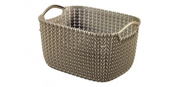 Cajas y baules - CESTA RECTANGULAR KNIT S 8L MARRON