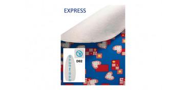 Textil y costura - FUNDA MESA PLANCHAR EXPRESS BLANCA SIMBOLOS AZULES