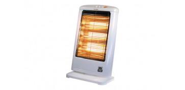Calefacción electrica - ESTUFA HALOGENA OSCILANTE BLANCA 400/800/1200W