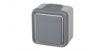 PULSADOR SUPERFICIE GRIS IP55 PLEXO