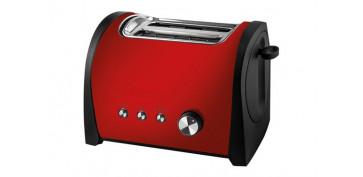 Electrodomesticos de cocina - TOSTADOR DOS RANURAS CORTAS ROJO-800W