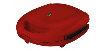 Electrodomesticos de cocina - SANDWICHERA PLACAS DESMONTABLES ROJO SANDWICH/GRILL