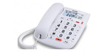 Telefonia - TELEFONO FIJO TECLAS GRANDES MOMO DR PANTALLA-BLANCO