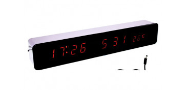 Electronica - RELOJ DESPERTADOR LED 30X5X4