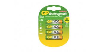 Pilas y baterías - PILA RECARGABLE RECYKO (BL.4) LR3 AAA 1000MAH
