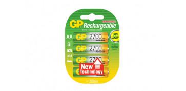 Pilas y baterías - PILA RECARGABLE RECYKO (BL.4) LR9 AA 2700MAH