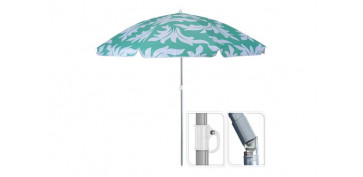 PARASOL SOMBRILLA PLAYA Ø 180 CM 4 COLORES SURTIDOS