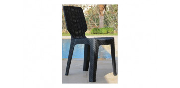 SILLA RATAN RESINA T-CHAIR ANTRACITA