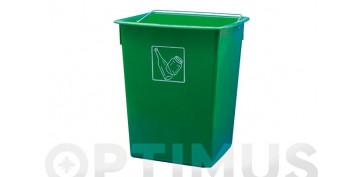 Reciclaje - CUBETA RECICLAR 26L CON ASA VERDE