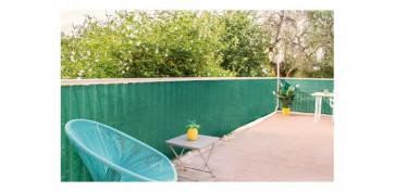 Cercado y ocultacion jardin - MALLA OCULTACION MAXIMA 160GR/M2 MESHNET 1X3 MT VERDE OLIVA
