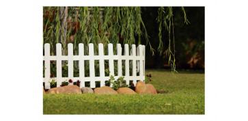Cercado y ocultacion jardin - MINI VALLA LOP BLANCA 5UDS 57 X 34,5 X 7 CM