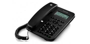Telefonia - TELEFONO FIJO SOBREMESA NEGRO
