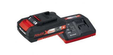 Complementos y repuestos de maquinaria - CARGADOR+BATERIA POWER-X 18V 2.0 AH