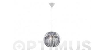 Iluminacion vivienda - LAMPARA COLGANTE PUMPKIN 1XE27 Ø30X150CM FUME