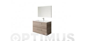 Mobiliario de baño - COLUMNA SUSPENDIDA 2 P ATHENA FRESNO 150X30X25