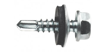 Fijación y Tornilleria - TORNILLO AUTOTALADRANTE DIN-7504-K+ARAND EPDM ZINC 4,8X19 MM P14 (100 UNIDADES)