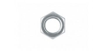 Fijación y Tornilleria - TUERCA METRICA DIN-934 HEXAGONAL ZINCADA 4 MM (40 UNIDADES)