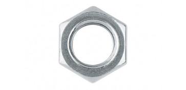 Fijación y Tornilleria - TUERCA METRICA DIN-934 HEXAGONAL ZINCADA 10 MM (10 UNIDADES)