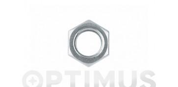 Fijación y Tornilleria - TUERCA METRICA DIN-934 HEXAGONAL ZINCADA 6 MM (100 UNIDADES)