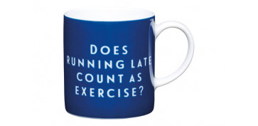 TAZA EXPRESSO 80 ML RUNNING LATE AZUL