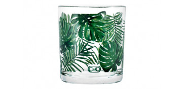 VASO DECORADO JUNGLE (PACK 3U) AGUA 25 CL