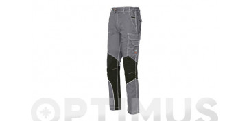 PANTALON STRETCH EXTREME GRIS CLARO T XL SLIM FIT