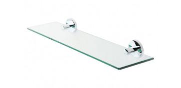 Accesorios para el baño - ESTANTE CRISTAL 52CM JOY CROMO