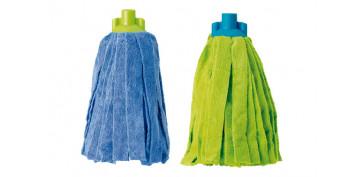 Utiles de limpieza - FREGONA MICROFIBRA BASIC VERDE-AZUL