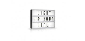 Iluminacion vivienda - LAMPARA LED BOX INCLUYE JUEGO DE LETRAS A5