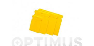 Utiles para pintar - JUEGO 4 ESPATULAS PLASTICO 50-80-100-120 MM