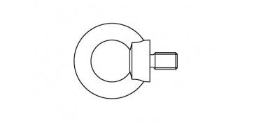Cables y cadenas - ANILLA ELEVACION ZINCADA MACHO DIN 580 M 6