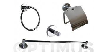 Accesorios para el baño - JUEGO BAÑO PARED INOX B-SMART 5 PIEZAS