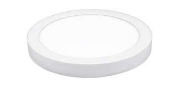Iluminacion vivienda - DOWNLIGHT LED DE SUPERFICIE Ø22,5X4 CM 1500LM BLANCO 20W 4000K