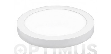 Iluminacion vivienda - DOWNLIGHT LED DE SUPERFICIE Ø22,5X4 CM 1500LM BLANCO 20W 6400K
