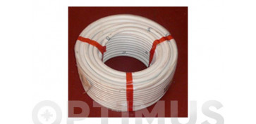 Evacuacion de aguas - TUBO FLEXIBLE AIRE ACONDICIONADO PVC BLANCO Ø 16 MM 50 MT