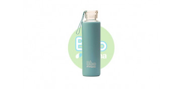 Reutilizable Eco-Friendly - BOTELLA BOROSILICATO CON SILICONA550 ML AZUL
