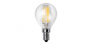 Bombillas - LAMPARA ESFERICA LED CLARA FILAMENTO E14 4 W LUZ CALIDA