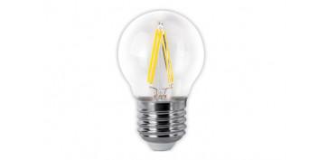 Bombillas - LAMPARA ESFERICA LED CLARA FILAMENTO E27 4 W LUZ FRIA