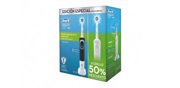 CEPILLO DENTAL ORAL-B DUO CROSS ACTIONVITALITY (PACK 2 UDS) BLANCO/NEGRO