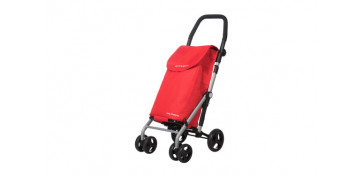 Reutilizable Eco-Friendly - CARRO COMPRA 4 RUEDAS GIRATORIASROJO