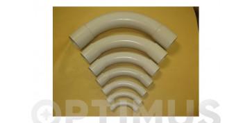 Material instalacion electrico - CURVA CORTA PVC GRIS (25 UDS)M-25