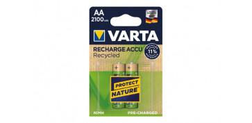 Pilas y baterías - PILA RECARGABLE RECYCLED (BL.2)AA 2100 MAH