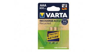Pilas y baterías - PILA RECARGABLE RECYCLED (BL.2)AAA 800 MAH