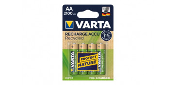 Pilas y baterías - PILA RECARGABLE RECYCLED (BL.4)AA 2100 MAH